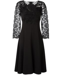 Ermanno Scervino | Lace Sleeve Midi Dress Womens Size 44 Polyester/Spandex/Elastane