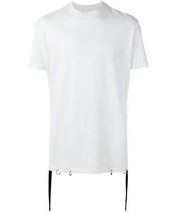 D.Gnak   Tape Detail T-Shirt Mens Size 46 Cotton