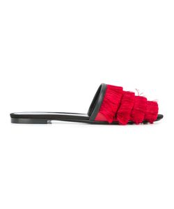 Marco de Vincenzo | Fringed Sandals Womens Size 37 Leather/Polyester