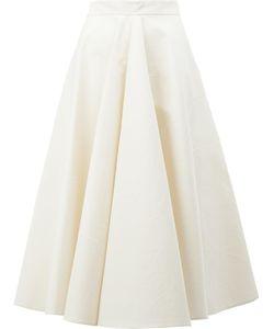 Maison Rabih Kayrouz   Pleated Midi Skirt Womens Size 40 Polyester