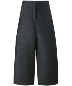 Ter Et Bantine | Cropped Wide-Leg Trousers Womens Size 42 Polyester/Wool/Cotton
