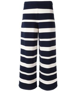 'S Max Mara | Wide-Legged Striped Trousers Womens Size Large Polyester/Viscose