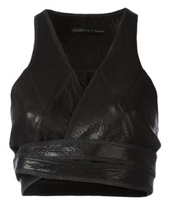 Victoria/Tomas | Cropped Top Womens Leather