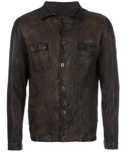 Salvatore Santoro | Distressed Leather Jacket Mens Size 46 Cotton/Leather