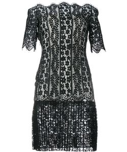 Huishan Zhang | Off-Shoulder Lace Dress Womens Size 12 Polyester/Nylon/Silk