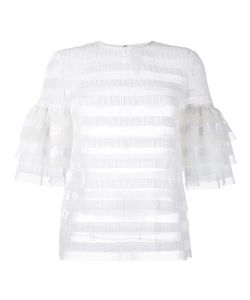 Huishan Zhang | Striped Sequin Top Womens Size 12 Polyester/Nylon/Sequin
