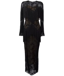 Zuhair Murad | Slip Tassel Maxi Dress Womens Size 42 Silk/Polyamide