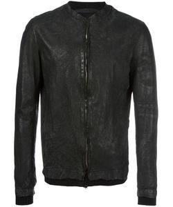 Salvatore Santoro | Distressed Leather Jacket Mens Size 56 Leather/Cotton