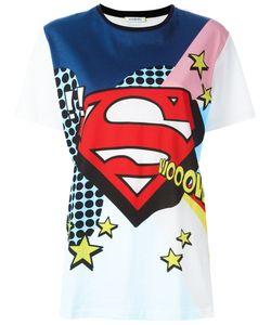Iceberg | Super Man Print T-Shirt Womens Size 42 Cotton