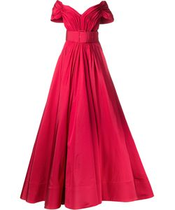Christian Siriano | Off-Shoulders Fla Gown Womens Size 6 Silk