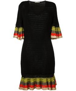 Marco de Vincenzo | Knitted V-Neck Dress Womens Size 40 Cotton/Viscose
