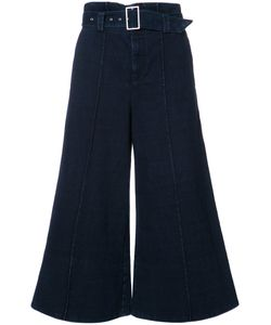 Ag Jeans | Wide-Legged Cropped Trousers Womens Size 28 Cotton