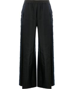 Ilaria Nistri | Side Stripe Wide-Leg Trousers Womens Size 40 Linen/Flax/Viscose