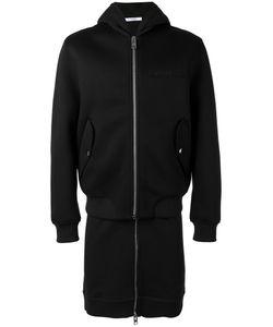 Givenchy   Logo Plague Zip Coat Mens Size Small Cotton/Viscose
