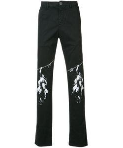 Off-White | Knee Motif Print Jean Mens Size 34 Cotton/Spandex/Elastane