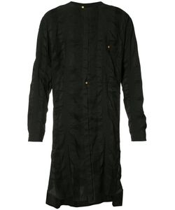 Uma Wang | Striped Long Shirt Mens Size Small Linen/Flax/Polyester