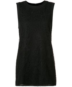Vera Wang | Lace Panel Tank Top Womens Size Xs Cotton/Silk/Nylon