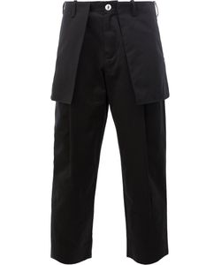 Aganovich | External Pockets Cropped Trousers Mens Size 48 Cotton