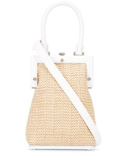 Perrin Paris | Woven Crossbody Bag Womens Straw/Leather