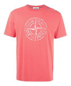 Stone Island   Logo Print T-Shirt Mens Size Medium Cotton