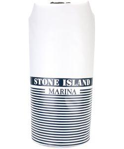 Stone Island   Large Logo Print Backpack Pvc