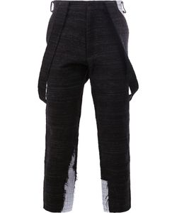 Aganovich | Draped Pockets Cropped Trousers Mens Size 46 Cotton/Polyamide/Polyester/Polycarbonite