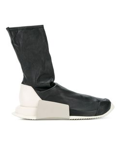 Rick Owens   Adidas Level Sock Trainers Mens Size 8.5 Leather/Rubber