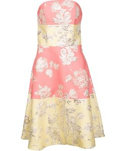 Christian Siriano | Brocade Strapless Dress Womens Size 4 Polyester