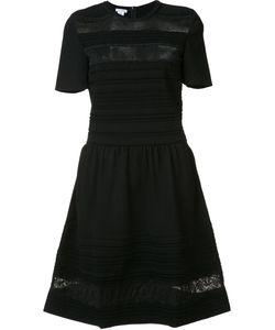 Oscar de la Renta | Lace Sheer Stripes Dress Womens Size Large