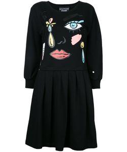 Boutique Moschino | Cartoon Face Print Dress Womens Size 46 Cotton