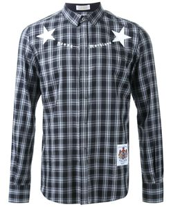 Education From Youngmachines | Plaid Star Print Button Down Shirt