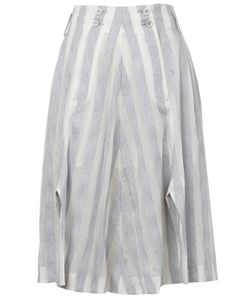 Anrealage | Reflective Striped A-Line Skirt
