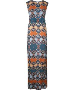 Emannuelle Junqueira   Abstract Print Crew Neck Gown
