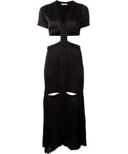 Barbara Casasola | Pleated Cut Out Detail Zip Up Dress