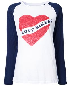 Zoe Karssen | I Love Bikers T-Shirt Womens Size Medium Cotton/Linen/Flax