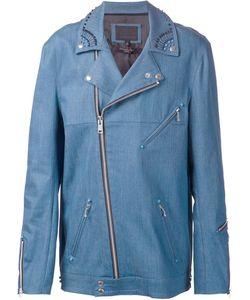 99 Is | 99 Is Embellished Collar Biker Jacket