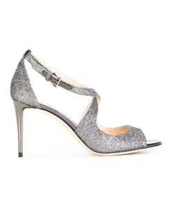 Jimmy Choo | Emily 85 Sandals Womens Size 38 Leather/ Fibre