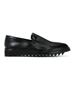 Diego Vanassibara | Perforated Slippers Mens Size 45 Leather/Rubber