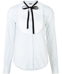 Adam Lippes | Striped Bib Shirt Womens Size 2 Cotton