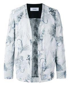 Chalayan | Collarless Open Blazer Womens Size 46 Polyester/Acetate/Viscose/Cotton
