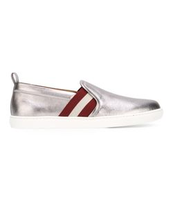 Bally | Stripe Detail Sneakers Womens Size 38 Leather/Rubber