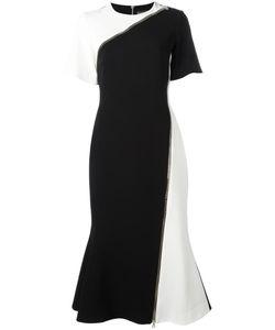 David Koma | Zipped Detail Fla Dress Womens Size 10 Acetate/Viscose/Spandex/Elastane/Acetate