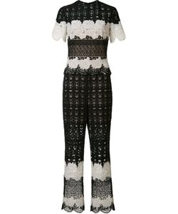 Yigal Azrouel | Two Tone Lace Jumpsuit Womens Size 0 Polyester