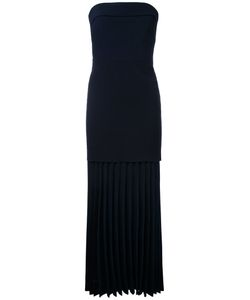 Dion Lee | Linear Pleated Strapless Dress Womens Size 6 Polyester