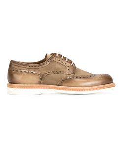 Santoni | Smoky Effect Brogues Mens Size 8.5 Leather/Rubber