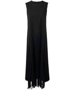 Maison Margiela | Pleated Front Long Dress Womens Size 40 Virgin