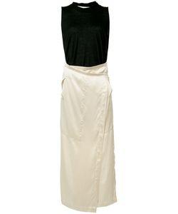 Uma Wang | Wrapped Skirt Tank Dress Womens Size Medium Silk/Wool