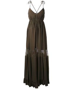 No21   Lace Insert Maxi Dress Womens Size 42 Acetate/Silk/Viscose/Polyamide