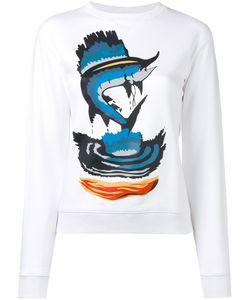 J.W.Anderson   Marlin Print Sweatshirt Womens Size Xs Cotton