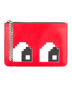 Les Petits Joueurs | Eyes Detail Clutch Womens Calf Leather/Plastic